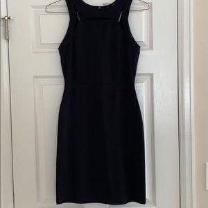 Black Trouve cut out midi dress, sz XS